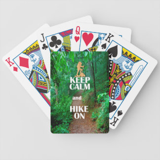 Keep Calm and Hike On Bicycle Playing Cards