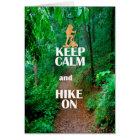 Keep Calm and Hike On Card