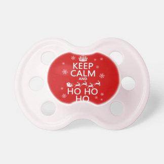 Keep Calm and Ho Ho Ho - Christmas/Santa Pacifiers