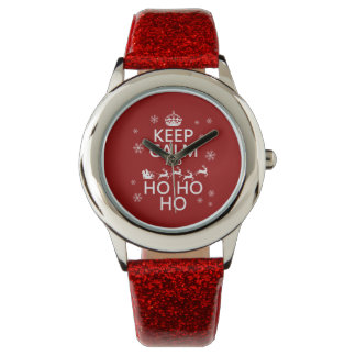 Keep Calm and Ho Ho Ho - Christmas/Santa Wristwatch