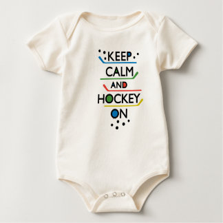 Keep Calm and Hockey On - baby Baby Bodysuit