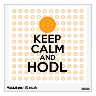 Keep Calm and HODL Wall Sticker