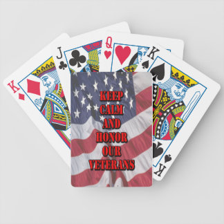 """""""Keep Calm and Honor Our Veterans"""" Bicycle Playing Cards"""