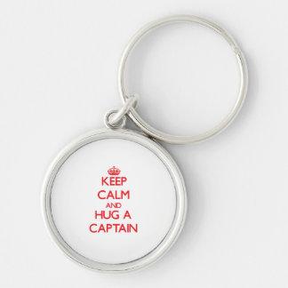 Keep Calm and Hug a Captain Key Chain