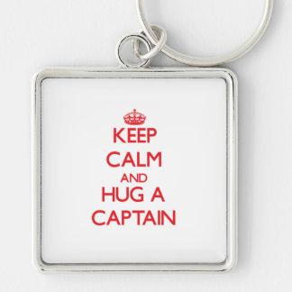 Keep Calm and Hug a Captain Key Chains