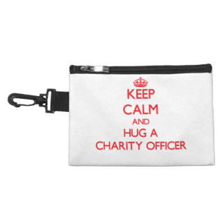 Keep Calm and Hug a Charity Officer Accessory Bags