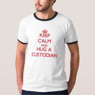 Keep Calm and Hug a Custodian T-Shirt