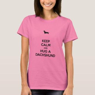 Keep Calm and Hug a Dachshund T-Shirt