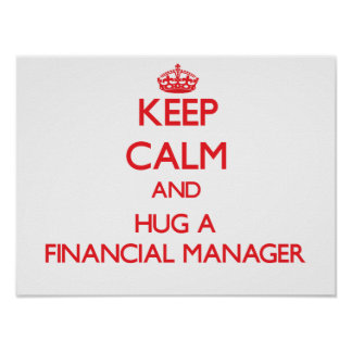 Keep Calm and Hug a Financial Manager Poster