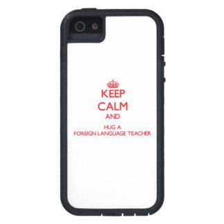 Keep Calm and Hug a Foreign Language Teacher iPhone 5 Cases