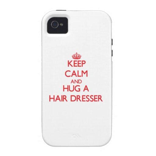 Keep Calm and Hug a Hair Dresser iPhone 4 Case