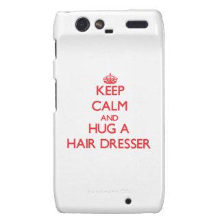 Keep Calm and Hug a Hair Dresser Droid RAZR Cover