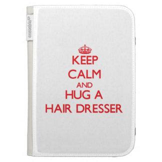 Keep Calm and Hug a Hair Dresser Kindle Folio Case