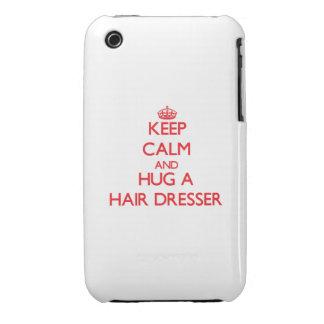 Keep Calm and Hug a Hair Dresser iPhone 3 Cover