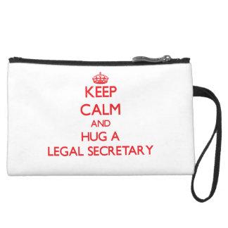 Keep Calm and Hug a Legal Secretary Wristlets