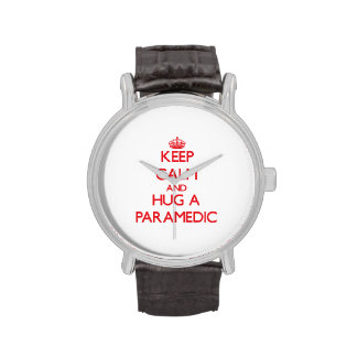 Keep Calm and Hug a Paramedic Wristwatches