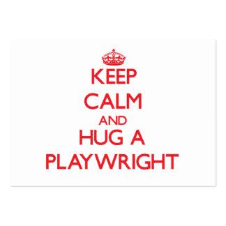 Keep Calm and Hug a Playwright Business Card