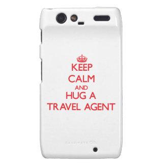 Keep Calm and Hug a Travel Agent Motorola Droid RAZR Covers