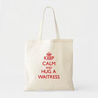 Keep Calm and Hug a Waitress Tote Bag