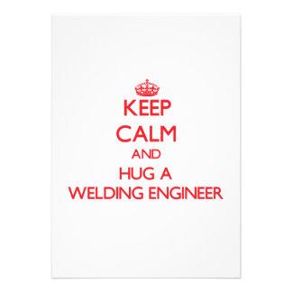 Keep Calm and Hug a Welding Engineer Cards