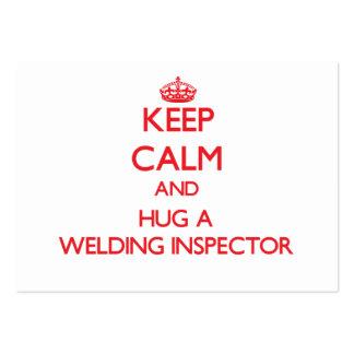 Keep Calm and Hug a Welding Inspector Business Cards