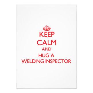 Keep Calm and Hug a Welding Inspector Custom Announcement