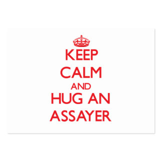 Keep Calm and Hug an Assayer Business Cards