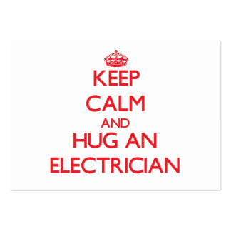 Keep Calm and Hug an Electrician Large Business Cards (Pack Of 100)