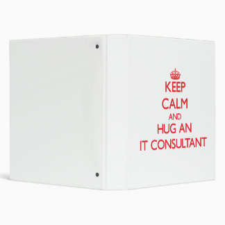 Keep Calm and Hug an It Consultant Binders