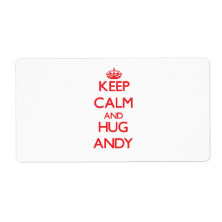 Keep Calm and HUG Andy Personalized Shipping Label