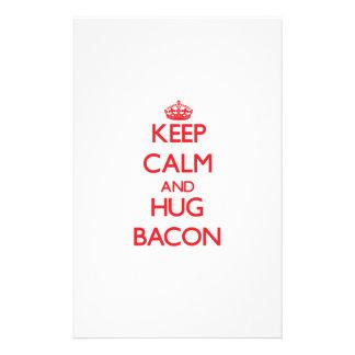 Keep calm and Hug Bacon Customized Stationery