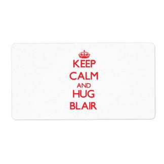 Keep Calm and HUG Blair Custom Shipping Label