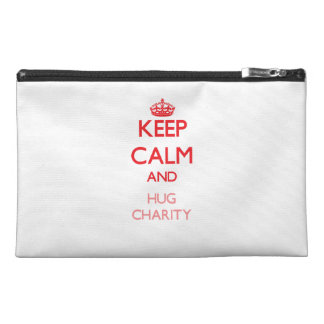 Keep Calm and Hug Charity Travel Accessories Bags