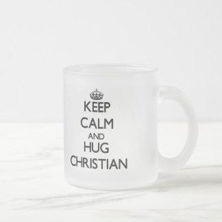 Keep Calm and Hug Christian Mug
