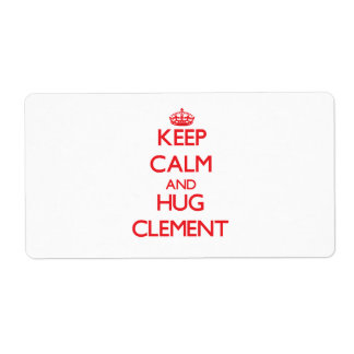 Keep Calm and HUG Clement Shipping Label