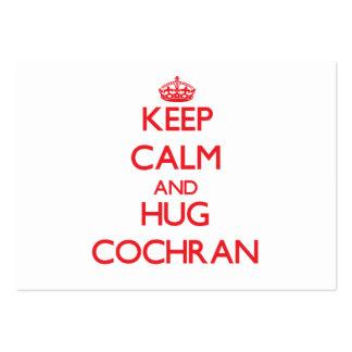 Keep calm and Hug Cochran Business Card