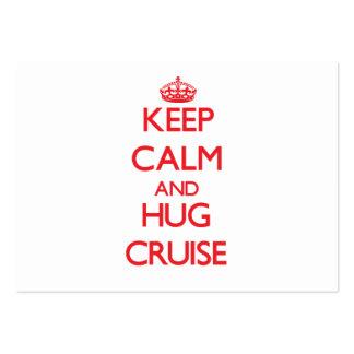Keep calm and Hug Cruise Business Card Templates