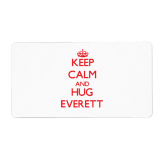Keep Calm and HUG Everett Shipping Labels