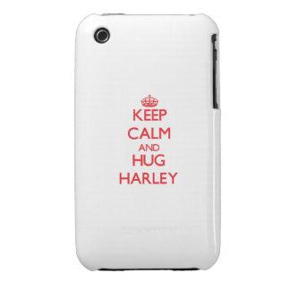 Keep Calm and HUG Harley iPhone 3 Case