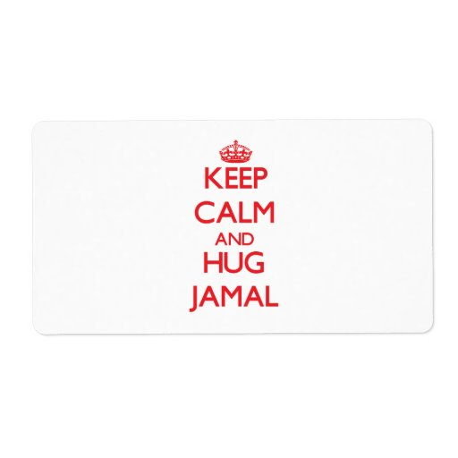 Keep Calm and HUG Jamal Shipping Label
