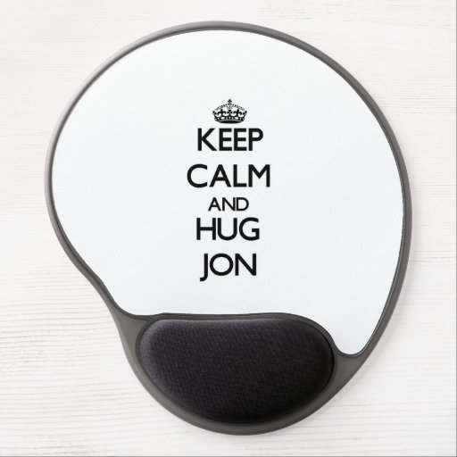 Keep Calm and Hug Jon Gel Mouse Pad