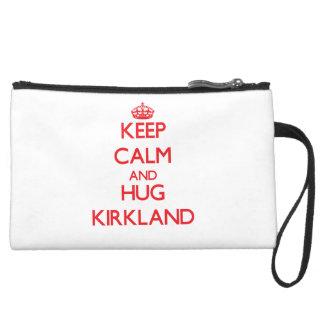 Keep calm and Hug Kirkland Wristlet