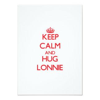 """Keep Calm and HUG Lonnie 5"""" X 7"""" Invitation Card"""
