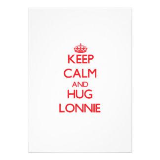Keep Calm and HUG Lonnie Custom Invite