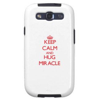 Keep Calm and Hug Miracle Galaxy S3 Covers