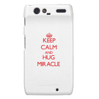 Keep Calm and Hug Miracle Droid RAZR Covers