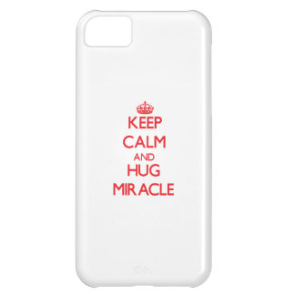 Keep Calm and Hug Miracle iPhone 5C Cases