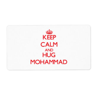 Keep Calm and HUG Mohammad Custom Shipping Labels