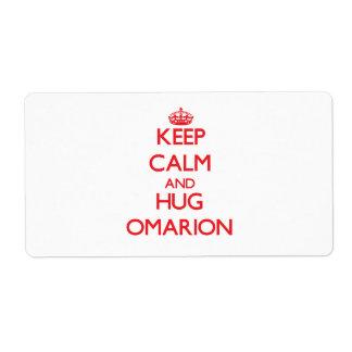 Keep Calm and HUG Omarion Custom Shipping Labels