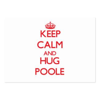 Keep calm and Hug Poole Business Card Templates